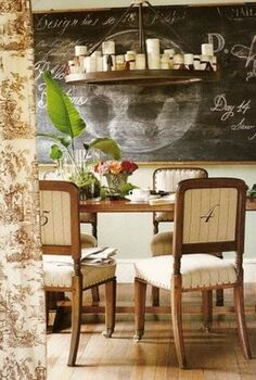 how to dress up your dining chairs for everyday use, crafts, home decor, living room ideas, painted furniture, image via Pinterest