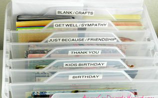 organizing my craft room greeting and craft card organizer, organizing, I m feeling so accomplished after organizing my greeting cards