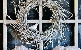 winter twig wreath, christmas decorations, seasonal holiday d cor, wreaths