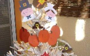 thanksgiving trees, crafts, seasonal holiday decor, thanksgiving decorations, Pilgrim Tree