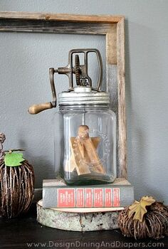 rustic fall vignette, repurposing upcycling, seasonal holiday decor, Rustic Fall Vignette