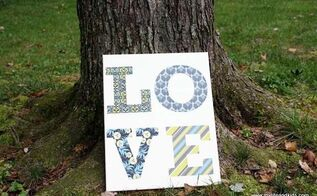 pottery barn inspired love canvas, crafts, seasonal holiday decor, Pottery Barn Inspired LOVE canvas