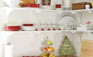 a christmas cottage home tour, christmas decorations, seasonal holiday decor, Kitchen