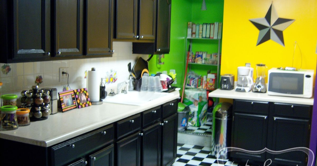 Our Punk Rock Kitchen Before Amp After Hometalk