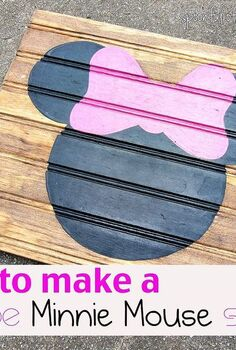 minnie mouse silhouette, bedroom ideas, crafts, home decor, painting, pallet