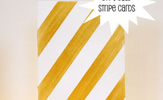 diy gold striped cards, crafts, Make these DIY striped cards for any occasion