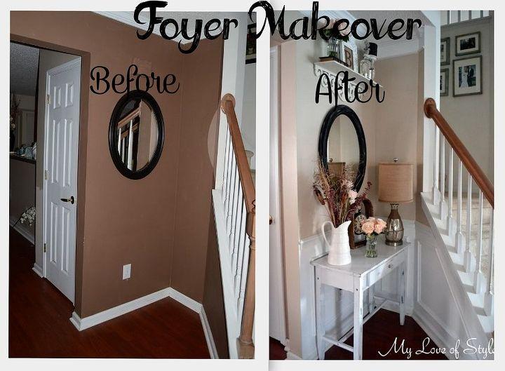 Budget Shabby Chic Foyer Makeover Foyer Home Decor Shabby Chic Diy Budget