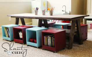 i built a kids table for my playroom, diy, how to, painted furniture, woodworking projects, Kids Play Table