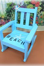 decorating your beach home with upcycled finds, home decor, repurposing upcycling, shabby chic, A beachy children s rocking chair