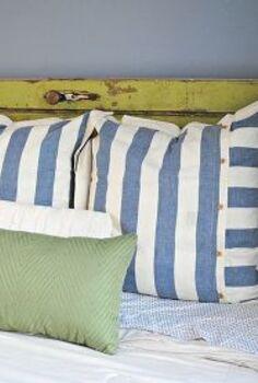 vintage door headboard, doors, repurposing upcycling, The pop of distressed green just makes the room