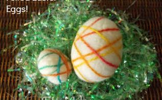 felted easter eggs, crafts, easter decorations, seasonal holiday decor