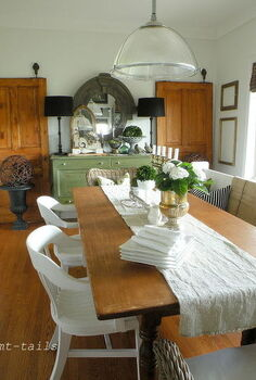 vintage white dining room, dining room ideas, home decor
