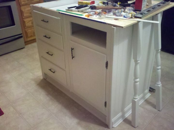 Old Base Cabinets Repurposed to Kitchen Island   Hometalk