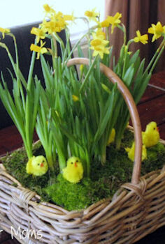 spring flower basket tutorial, crafts, easter decorations, flowers, seasonal holiday decor