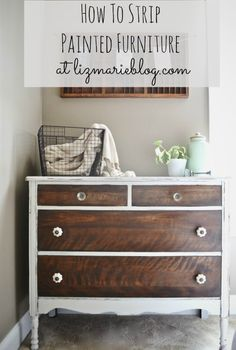 how to strip painted furniture amp a makeover, painted furniture, How to strip furniture