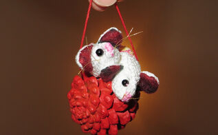 one diy christmas ornament a month 06 pinecone mice, christmas decorations, crafts, seasonal holiday decor