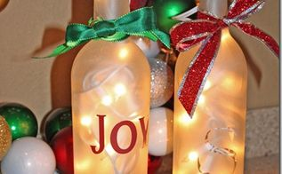upcycle wine bottles into frosted luminaries, crafts, home decor, lighting, repurposing upcycling, Light and enjoy