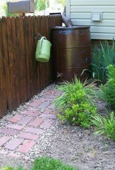 rain barrels made easy, gardening, go green, outdoor living