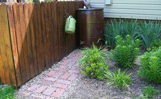 rain barrels made easy, gardening, go green, outdoor living