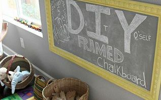 diy framed chalkboard tutorial, diy, how to, It s nailed directly into the wall so it s very secure
