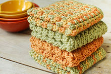 crunchy stitch crochet dishcloth pattern, crafts
