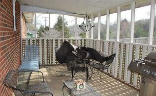 screened in porch makeover, outdoor furniture, outdoor living, patio, porches