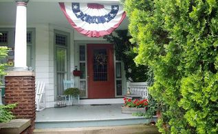 my vintage front porch, outdoor living, porches, seasonal holiday decor, The front entrance to my Victorian 1870 s home and wrap around porch