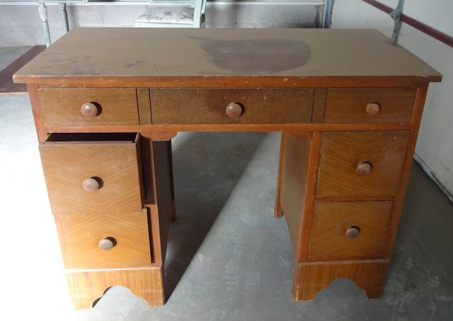 refinished small antique desk, painted furniture, Not very inspiring - Refinished Small Antique Desk Hometalk