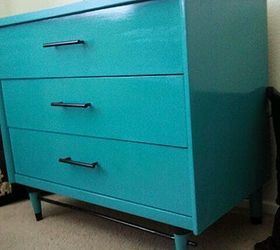 1960 S Turquoise And Black Dresser, Home Decor, Painted Furniture, Valspar  Rushing Stream