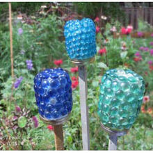 garden art and craft projects with glass gems flat marbles, crafts, gardening, Garden treasure jars it s both a diy craft and a fun way to involve kids in the garden