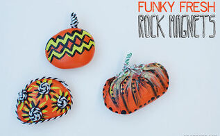diy painted rock magnets, crafts, home decor, seasonal holiday decor, Fun Funky Fresh Rock Magnets