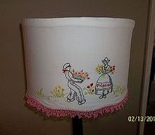 lampshade slipcover, crafts, lighting, repurposing upcycling, shabby chic