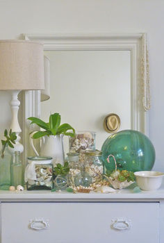 coastal decorating, home decor, succulents