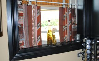 making no sew curtains out of vintage cloth napkins, home decor, repurposing upcycling, reupholster, window treatments