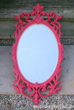 pink and pearls mirror makeover, crafts, Pink and Pearls Mirror Makeover