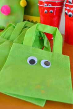 monster bag favors and craft for a kiddo party, crafts, Monster Bag Party Kid s Party Party Supplies Craft Supplies kidscraft DIY summerstyle gifting favoriteproject