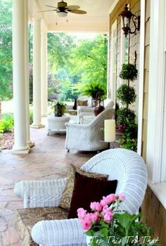 summer home tour at top this top that, home decor, Front Porch