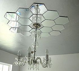diy mirrored ceiling medallion bedroom ideas home decor lighting repurposing upcycling - Ceiling Medallion
