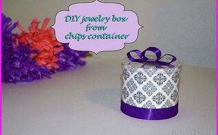 diy pretty small box from chips container, crafts
