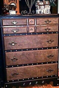 2 steamer trunk inspired curbside dresser makeover, painted furniture, After Steamer Chest inspired Chest of Drawers