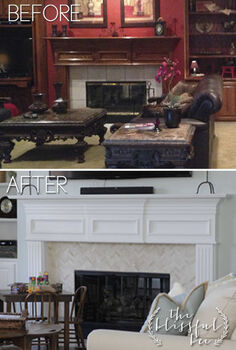 fireplace makeover, dining room ideas, diy, fireplaces mantels, home improvement, woodworking projects