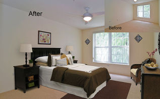 virtual staging before amp after photo of the week, bedroom ideas, electrical, home decor, Virtually Staged Master Bedroom