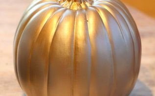 metallic faux pumpkins, crafts, painting, This is my Bronze and Gold Version You can come up with endless combinations using this technique