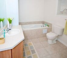 how much does a bathroom remodel cost, bathroom, remodeling, Light and airy bathroom