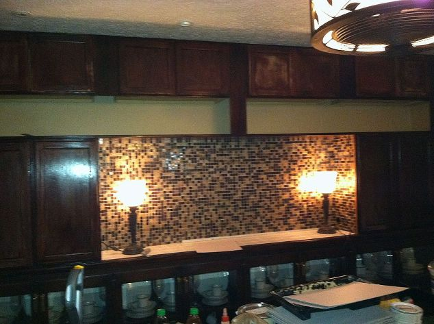 Dining Room Mirrors down new wall unit done and I LOVE IT – Dining Room Wall Unit