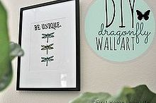 diy spring dragonfly art, crafts
