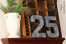 making zinc letters numbers for the holidays, crafts, painting, seasonal holiday decor