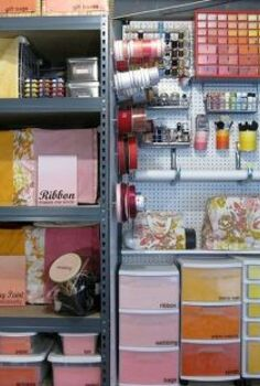 colorful ombre basement craft storage, craft rooms, home decor, organizing, storage ideas, My colorful ombre craft storage solutions Get the details here