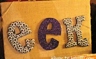 halloween art, crafts, halloween decorations, seasonal holiday decor, Halloween EEK on Burlap