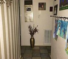 dark hallway, foyer, home decor, What it looks like now